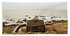 Little House At The Nigg Bay. Beach Towel