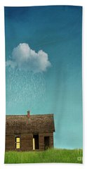 Beach Towel featuring the photograph Little House Of Sorrow by Juli Scalzi