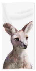 Little Kangaroo Beach Towel by Amy Hamilton