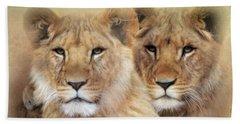 Little Lions Beach Towel by Trudi Simmonds
