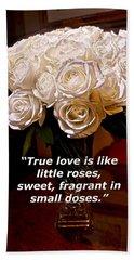 Little Love Roses Beach Towel