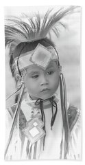 Little Native American Dancer Beach Towel