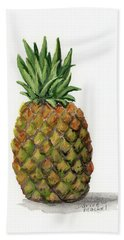 Beach Towel featuring the painting Little Pineapple by Darice Machel McGuire