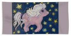 Little Pink Horse Beach Sheet by Rita Fetisov