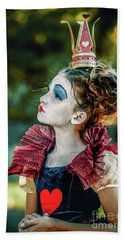 Beach Towel featuring the photograph Little Princess Of Hearts Alice In Wonderland by Dimitar Hristov
