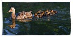 Little Quacker Formation Beach Towel by Debby Pueschel