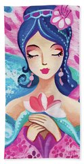 Little Quan Yin Mermaid Beach Towel