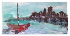 Transportation Paintings Beach Towels