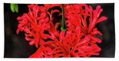 Little Red Flower Beach Towel