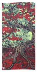 Little Red Tree Series 3 Beach Towel