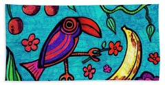 Little Toucan Beach Towel by Sarah Loft