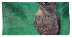 Beach Towel featuring the painting Little Warbler by Leslie Allen