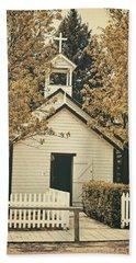 Little White Church Beach Sheet by Maria Angelica Maira