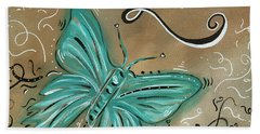 Live And Love Butterfly By Madart Beach Towel