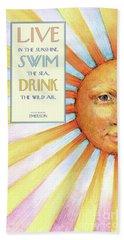 Live In The Sunshine Beach Sheet by Lora Serra