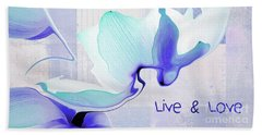 Beach Sheet featuring the photograph Live N Love - Absf43 by Variance Collections