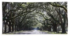 Live Oak Lane In Savannah Beach Towel