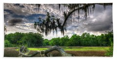 Live Oak Marsh View Beach Towel