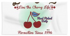 Live The Cherry Life Beach Sheet