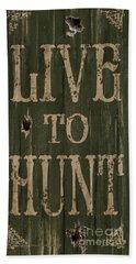 Live To Hunt Beach Sheet