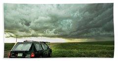 Living Saskatchewan Sky Beach Towel by Ryan Crouse