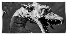 Beach Towel featuring the photograph Ljubljana Dragon #2 - Slovenia by Stuart Litoff