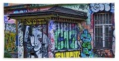 Beach Towel featuring the photograph Ljubljana Grafitti #2 - Slovenia by Stuart Litoff