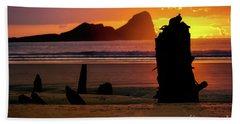 Llangennith Helvetia Wreck 2016 Beach Towel