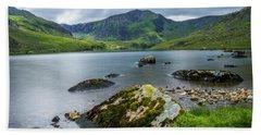 Llyn Ogwen Glyder Fawr Beach Towel by Ian Mitchell