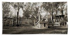 Beach Towel featuring the photograph Loading Ramp by Linda Lees