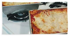 Beach Towel featuring the photograph Loaf Pan Lasagna 1 by Andee Design