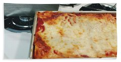 Beach Towel featuring the photograph Loaf Pan Lasagna 2 by Andee Design