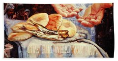 Loaves And Fishes 2 Beach Towel