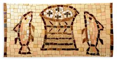 Loaves And Fishes Mosaic Beach Towel by Lou Ann Bagnall