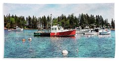 Lobster By Night - Sleep By Day - Camden Maine Beach Towel