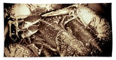 Lobster Catcher Beach Towel by Baggieoldboy