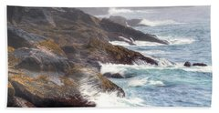 Beach Towel featuring the photograph Lobster Cove by Tom Cameron
