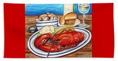 Lobster Dinner Beach Towel