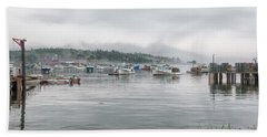 Beach Towel featuring the photograph Lobster Fleet by John M Bailey