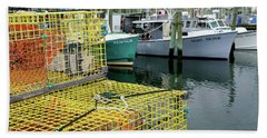Lobster Traps In Galilee Beach Towel