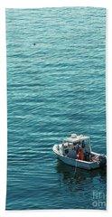 Lobsterman In Maine Beach Towel by Diane Diederich