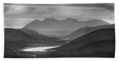 Loch Glascarnoch And An Teallach Beach Towel