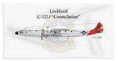 Lockheed C-121j Constellation Beach Towel by Arthur Eggers