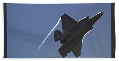 Lockheed Martin F-35b Lightning II Beach Sheet by Shirley Mitchell