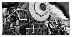 Locomotive Nine Beach Towel by Marius Sipa
