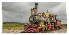 Beach Towel featuring the photograph Locomotive No. 119 by Sue Smith