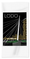 Lodo By Night Beach Towel