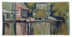 Lofts Along The River Zaan In Zaandam Beach Towel by Nop Briex