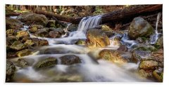Log Falls On Limekiln Creek Beach Towel