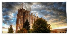 Logan Temple Cloud Backdrop Beach Towel